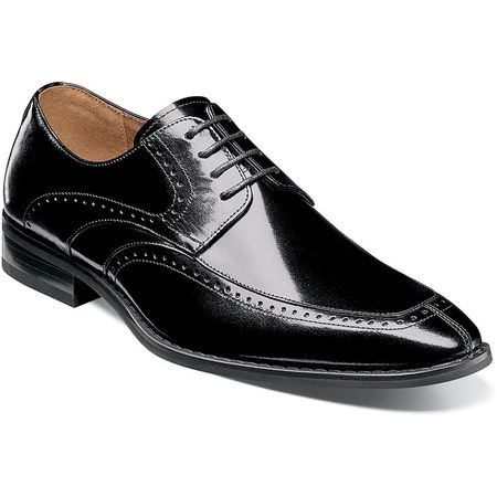 Stacy Adams Dress Shoes Black Leather Split Toe 25240-001