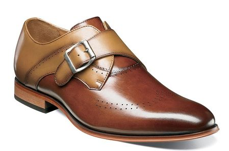 Stacy Adams Shoes New Rust Tan Stylish Monk Strap 25178-229 - click to enlarge
