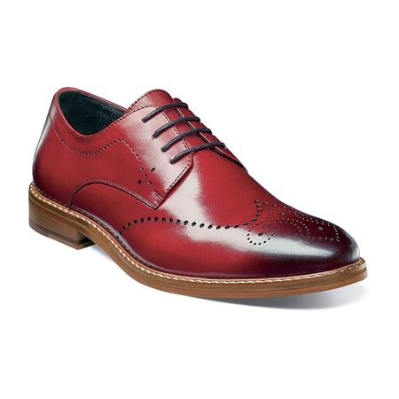 Stacy Adams Shoes Red Wingtip Oxford Alaire 25128-608 - click to enlarge