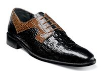 Stacy Adams Black Alligator Pattern Mens Shoes Garelli 25116-009 OS