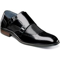 Stacy Adams Shoes Mens Black Woven Double Monk Strap 25239-001