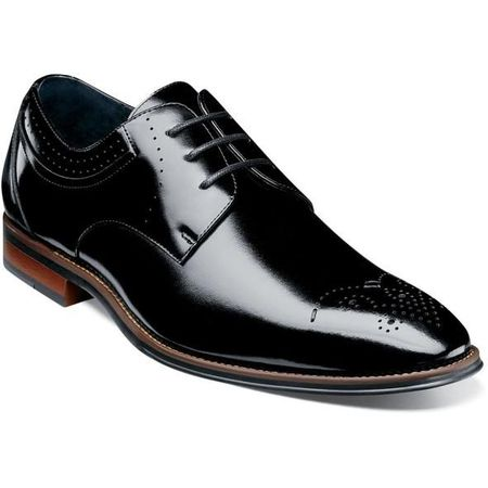 Stacy Adams Shoes Black Plain Toe Oxford 25346-001