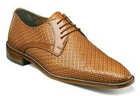 Stacy Adams Shoes Tan Texture Leather Rico 25083-240 OS