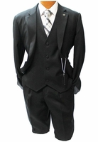 Stacy Adams Suny Vest Black 3 Pc. Fashion Suit 4016-100