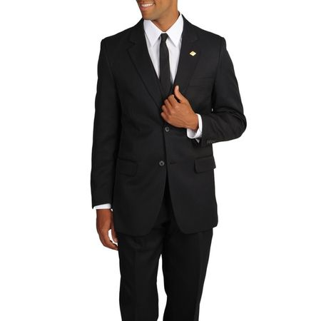 Stacy Adams All Black 3 Piece Suit Suny 4016-100  - click to enlarge