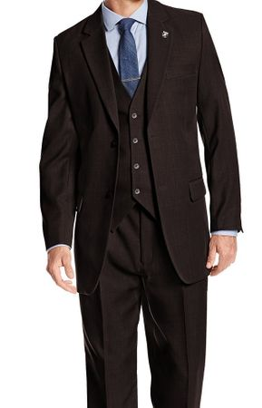 Stacy Adams Heather Brown 1920s Suny Vested 3 Piece Suits 4016-208 OS - click to enlarge