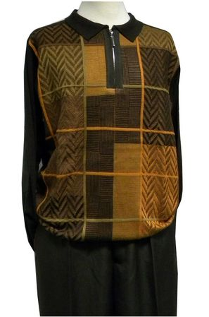 Stacy Adams Sweater Outfit Brown Fancy Pattern 8225 Size L/36