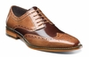 Stacy Adams Tan Brown Leather Wingtip Shoes Tinsley 25092-238