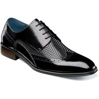 Stacy Adams Shoes Mens Black Leather Woven Wingtip 25238-001