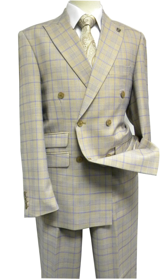 STACY ADAMS Mens Big and Tall Sam Big /& Tall Double Breasted Suit