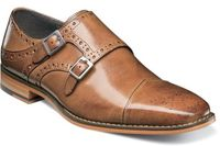 Stacy Adams Tan Double Monk Strap Shoes 25194-240