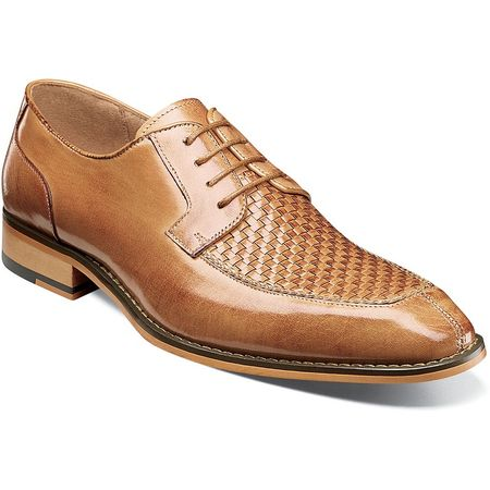 Stacy Adams Tan Leather Woven Top Dress Shoes 25242-240