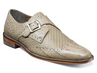 Stacy Adams New Monk Strap Tan Color Wingtip Shoes 25084-260 OS