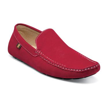 Stacy Adams Vigo Red Suede Driving Shoes 24869-600 IS Size 11.5
