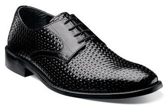 Stacy Adams Mens Black Weave Leather Shoes Sanfillipo 24938-001 IS