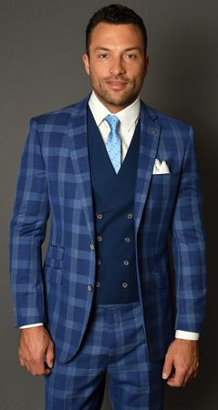 Statement Modern Fit 3 Piece Suits