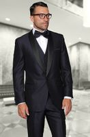 Statement Indigo Modern Fit 3 Piece Shawl Collar Tuxedo Enzo-1