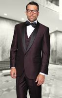 Statement Plum Modern Fit 3 Piece Shawl Collar Tuxedo Enzo-1
