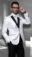 Statement White 3 Piece Entertainer Suits Modern Fit Bellagio
