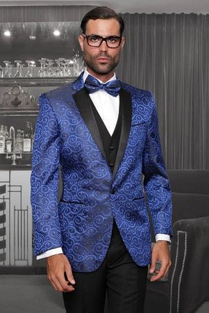 Statement Modern Fit Tuxedo Suits