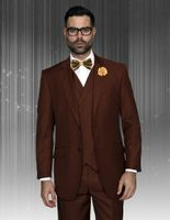 Statement Men's Copper Wool 3 Piece Suit DB Vested Messina