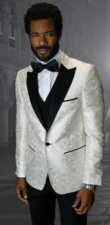 Mens Designer Modern Fit Fashion Suit Off White Trendy Tux Statement Bellagio-4