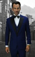 Statement Modern Fit Mens Fashion Tuxedo Sapphire Blue Window Pane Alberto