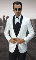 Statement Mens White Fashion Tuxedo Modern Fit Designer Unique Style Bellagio-7