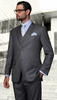 Statement Slim Fit Suits Mens Gray Wool Pinstripe 3 Piece Lorenzo-2