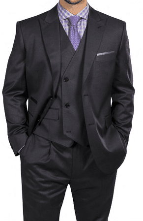 Steve Harvey Gray 3 Piece Suit Double Breasted Vest 218851 OS - click to enlarge