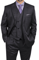 Steve Harvey Gray 3 Piece Suit Double Breasted Vest 218851 OS
