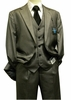 Steve Harvey 3 Piece Suit Gray Plaid Sharkskin 6793