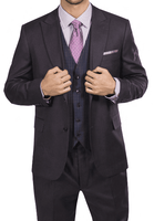 Steve Harvey Mens Brown 3 Piece Suit Ginham Plaid Vest 218883 OS