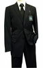 Steve Harvey Suits Mens 2 Piece Navy Blue Chalk Stripe 6791