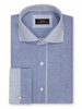 Steven Land Blue French Cuff Shirt Basket Weave DW824