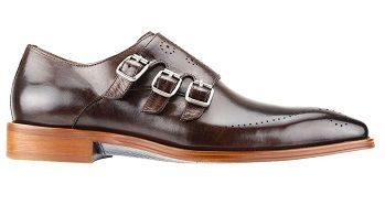 Steven Land Chocolate Brown Designer Monk Strap Dress Shoe SL0027