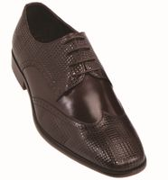 Steven Land Brown Leather Wingtip Patch Dress Shoes SL9080 IS