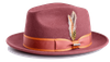 Steven Land Hats Mens Brown Rust Fashion Fedora London