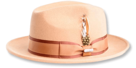 Steven Land Hats Mens Camel Wool Fedora London - click to enlarge