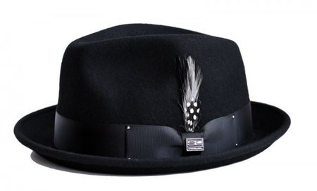 Steven Land Hats Mens Wool Black Stingy Brim Ayden - click to enlarge