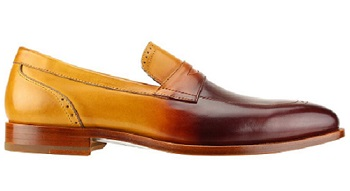 Steven Land Maple Brown Faded Penny Loafer SL0016
