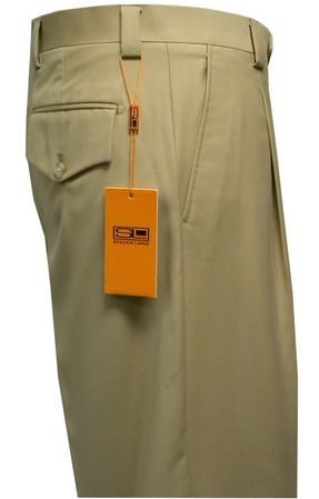 Steven Land Slacks Mens Beige Semi Wide Leg Pants SL77