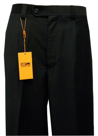 Steven Land Slacks Mens Black Semi Wide Leg Pants SL77