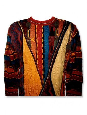 Steven Land Mens Coogi Design Moccasin Beige Cotton Sweaters SL131 - click to enlarge