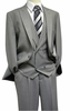 Steven Land Mens Grey Plaid DB Vest Suit Walter SL77-787 IS