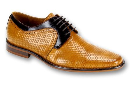 Steven Land Scotch Brown Woven Leather Dress Shoes SL0014 IS