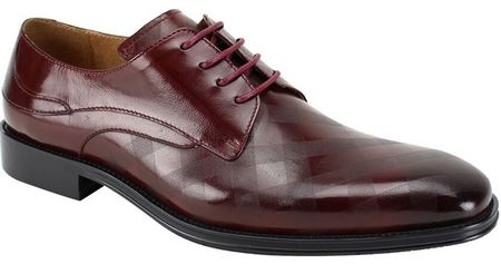 Steven Land  Burgundy Square Pattern Leather Lace Up Designer Shoes SL0038 - click to enlarge