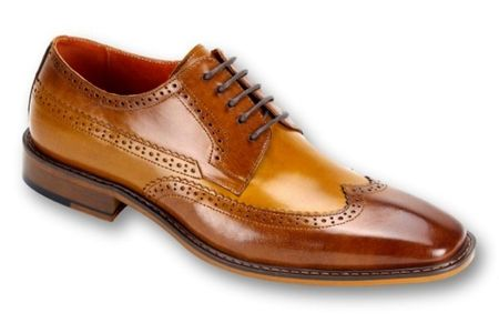 Steven Land Shoes Tan Scotch Leather Two Tone SL0007 - click to enlarge