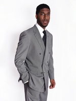 Steven Land Suit Mens Double Breasted Grey Nailshead Paolo SL77-480