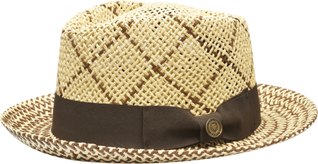 Summer Hat Mens Natural Straw Fedora Bruno Capelo EN973 Size M,L
